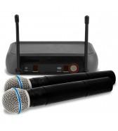 Sistema sem fios com microfone de mão