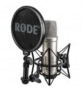 Microfone de membrana grande